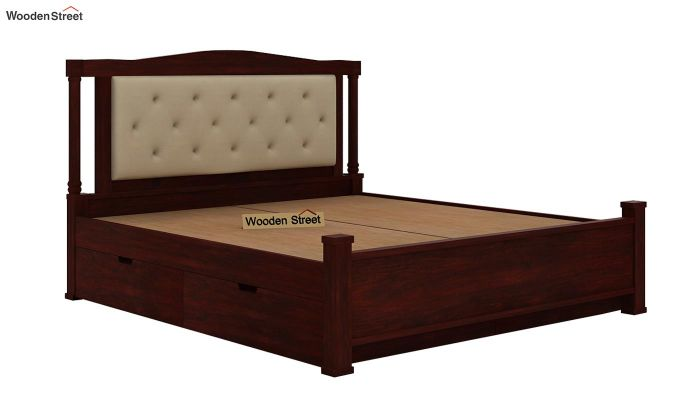 Ornat Bed With Storage (Queen Size, Mahogany Finish)-7
