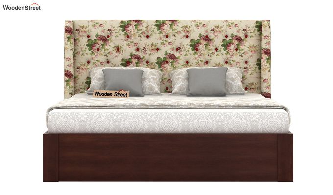 Pheobe Upholstered Bed With Storage (King Size, Cream Blossom)-3
