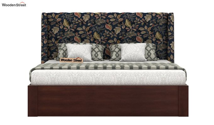 Pheobe Upholstered Bed With Storage (King Size, Dusky Leaf)-3