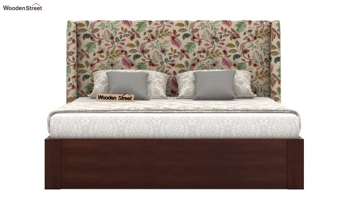 Pheobe Upholstered Bed With Storage (King Size, Rosy Leaf)-3
