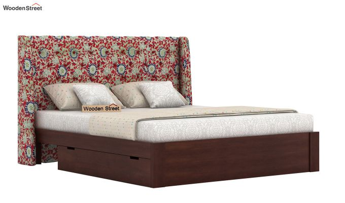 Pheobe Upholstered Bed With Storage (King Size, Scarlet Blue)-2