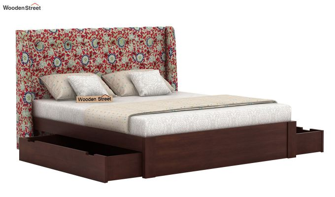 Pheobe Upholstered Bed With Storage (King Size, Scarlet Blue)-4