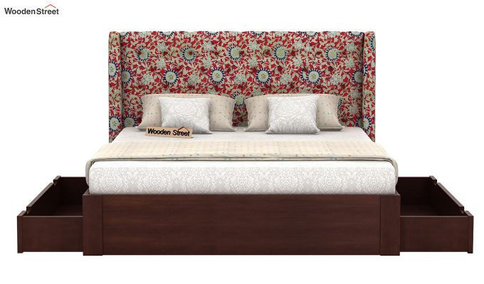Pheobe Upholstered Bed With Storage (King Size, Scarlet Blue)-5