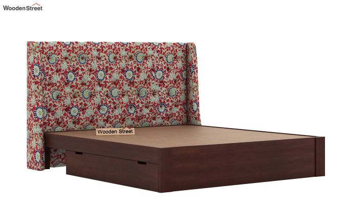 Pheobe Upholstered Bed With Storage (King Size, Scarlet Blue)-7