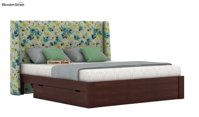 Pheobe Upholstered Bed With Storage (King Size, Teal Tulip)-2