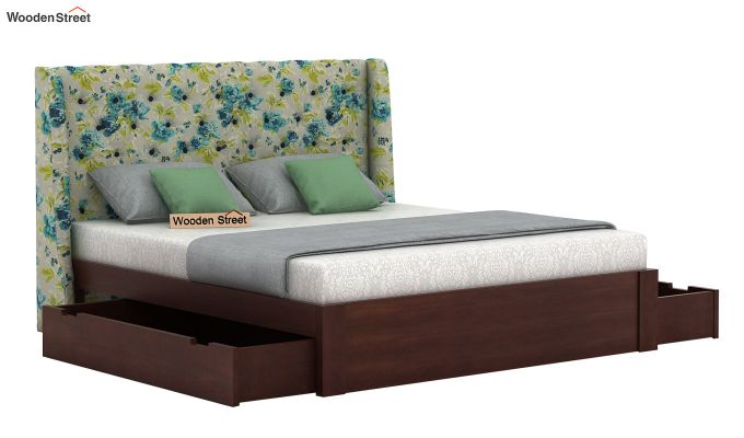 Pheobe Upholstered Bed With Storage (King Size, Teal Tulip)-4