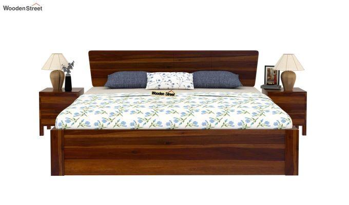 Pomona Bed With Storage (King Size, Honey Finish)-3
