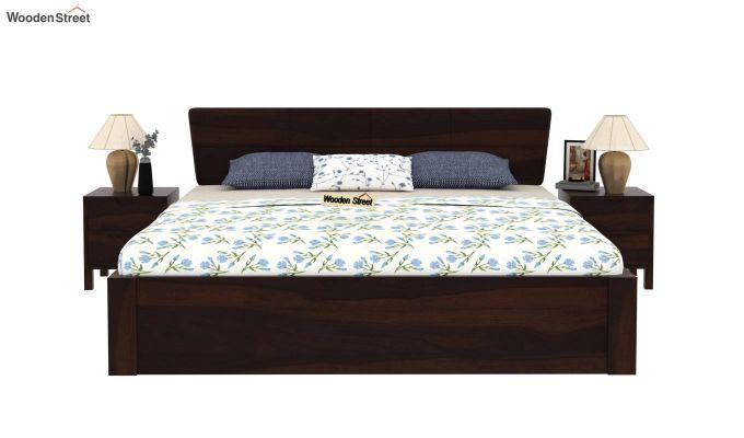 Pomona Bed With Storage (Queen Size, Walnut Finish)-3