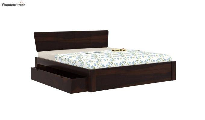 Pomona Bed With Storage (Queen Size, Walnut Finish)-4