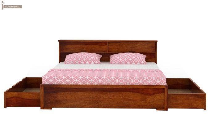 Prady Bed With Storage (King Size, Honey Finish)-5