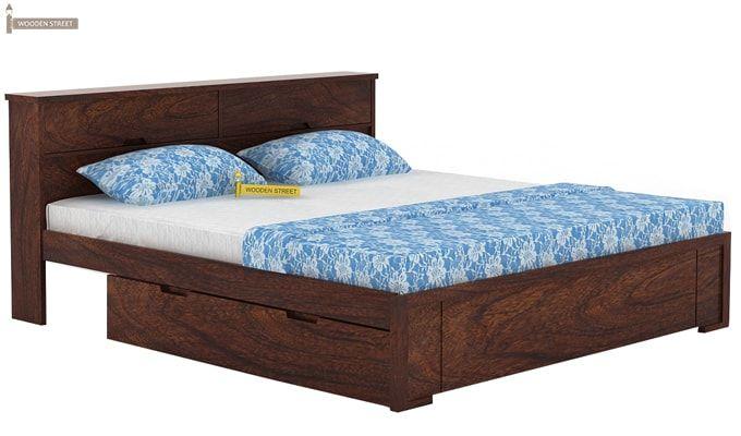 Prady Bed With Storage (King Size, Walnut Finish)-2