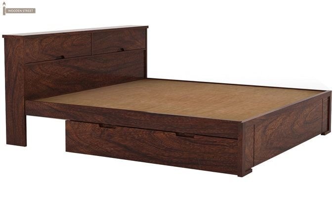 Prady Bed With Storage (King Size, Walnut Finish)-3