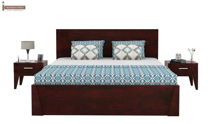 Sefra Bed With Storage (Queen Size, Mahogany Finish)-2