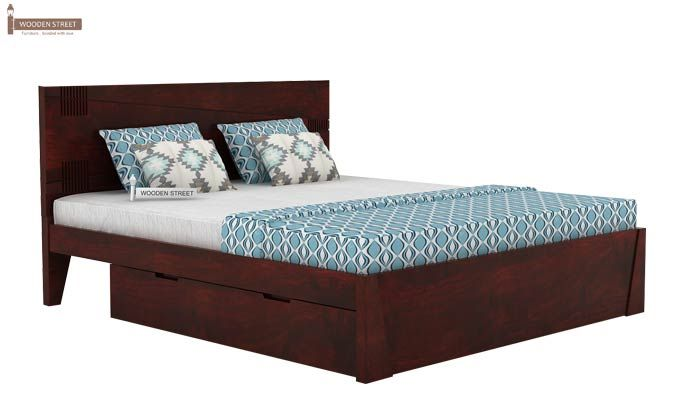 Sefra Bed With Storage (Queen Size, Mahogany Finish)-3