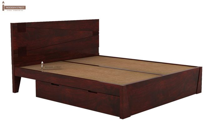 Sefra Bed With Storage (Queen Size, Mahogany Finish)-4