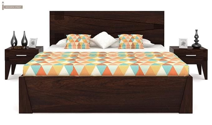 Sefra Bed With Storage (King Size, Walnut Finish)-2