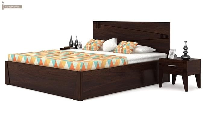 Sefra Bed With Storage (King Size, Walnut Finish)-3