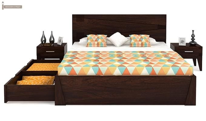 Sefra Bed With Storage (King Size, Walnut Finish)-6