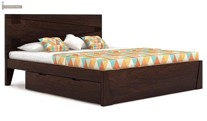 Sefra Bed With Storage (King Size, Walnut Finish)-7