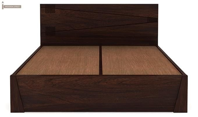 Sefra Bed With Storage (King Size, Walnut Finish)-9