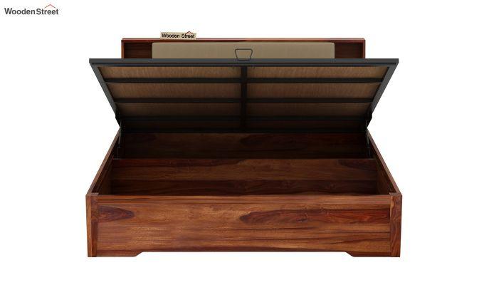 Telos Hydraulic Bed (King Size,Teak Finish)-9
