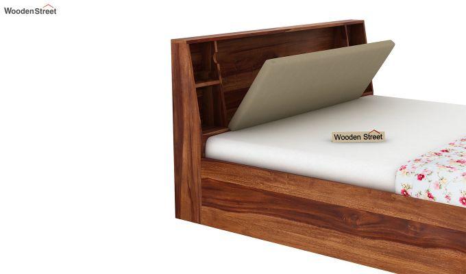 Telos Hydraulic Bed (King Size,Teak Finish)-10