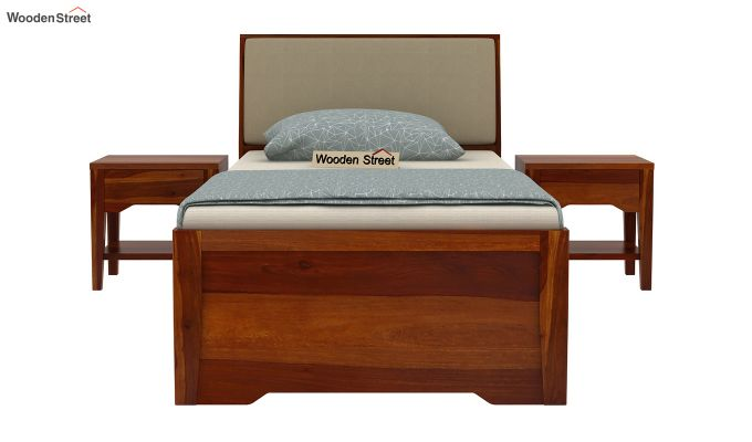 Telos Single Bed With Storage (Honey Finish)-3