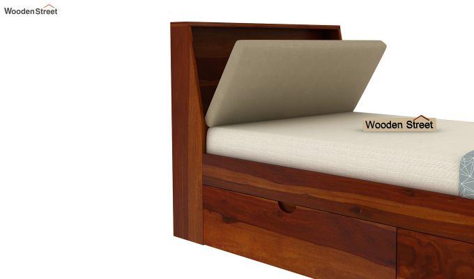 Telos Single Bed With Storage (Honey Finish)-8