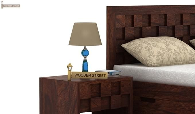 Travis Bedside Table (Walnut Finish)-1