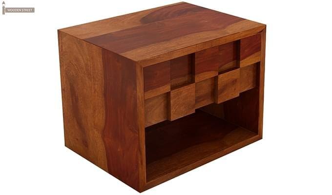 Travis Bedside Table (Honey Finish)-3