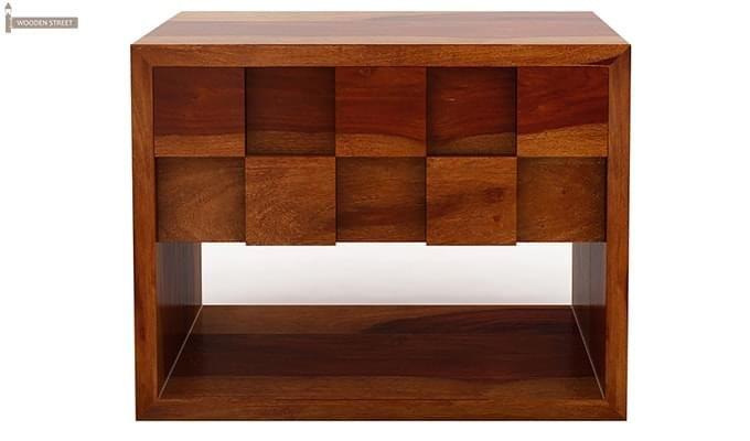 Travis Bedside Table (Honey Finish)-4