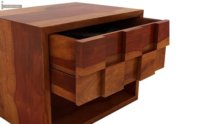 Travis Bedside Table (Honey Finish)-5