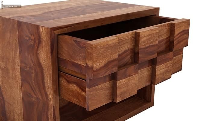 Travis Bedside Table (Teak Finish)-5