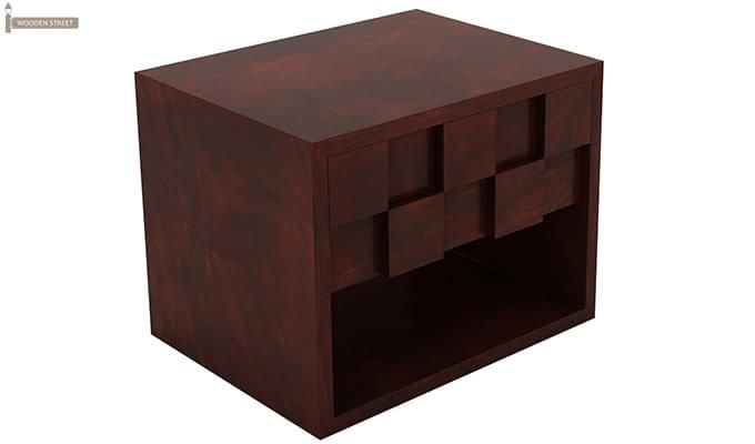 Travis Bedside Table (Mahogany Finish)-3