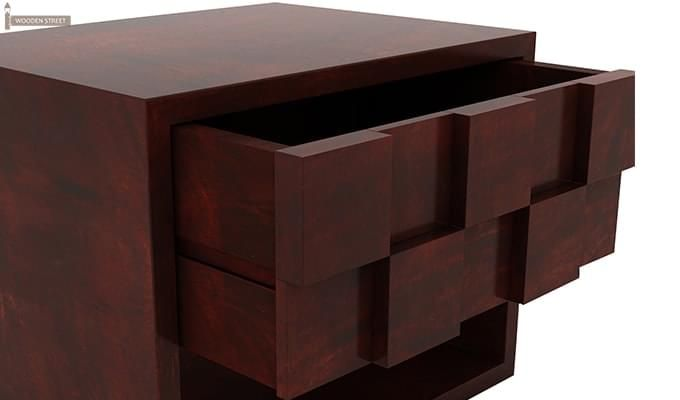 Travis Bedside Table (Mahogany Finish)-5