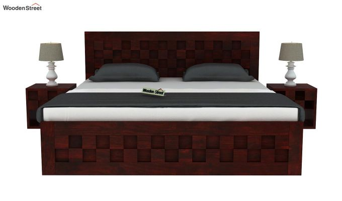 Travis Bed With Storage (King Size, Mahogany Finish)-3