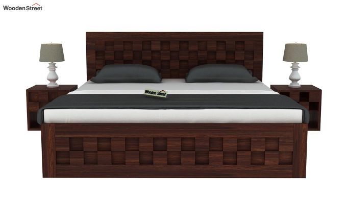 Travis Bed With Storage (King Size, Walnut Finish)-3