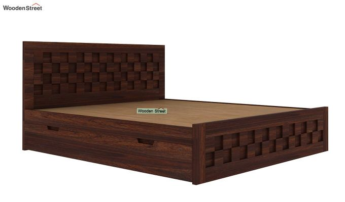 Travis Bed With Storage (King Size, Walnut Finish)-5