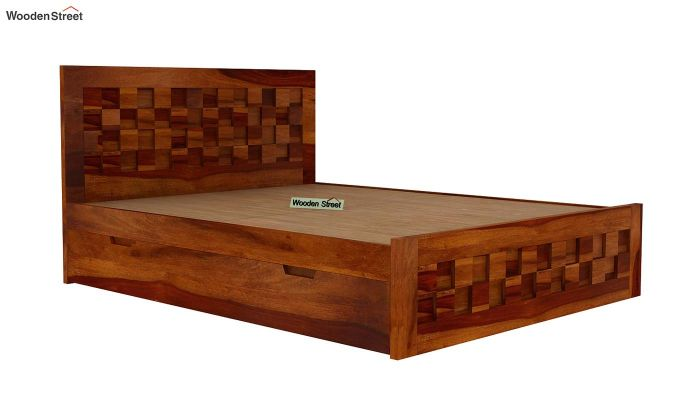 Travis Bed With Storage (Queen Size, Honey Finish)-5