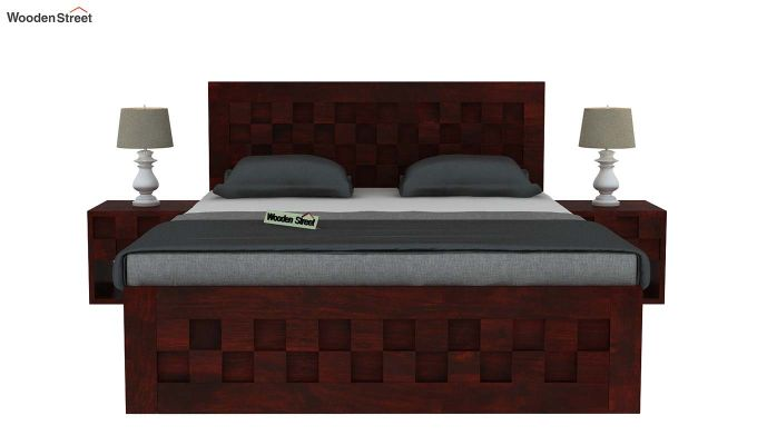 Travis Bed With Storage (Queen Size, Mahogany Finish)-3