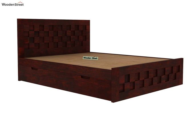 Travis Bed With Storage (Queen Size, Mahogany Finish)-5