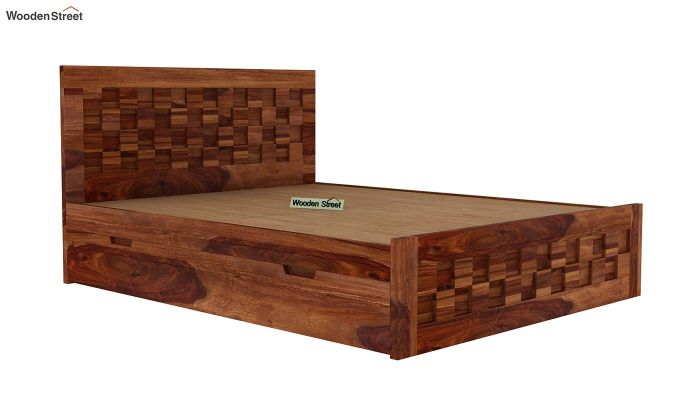 Travis Bed With Storage (Queen Size, Teak Finish)-5