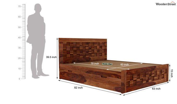 Travis Bed With Storage (Queen Size, Teak Finish)-6