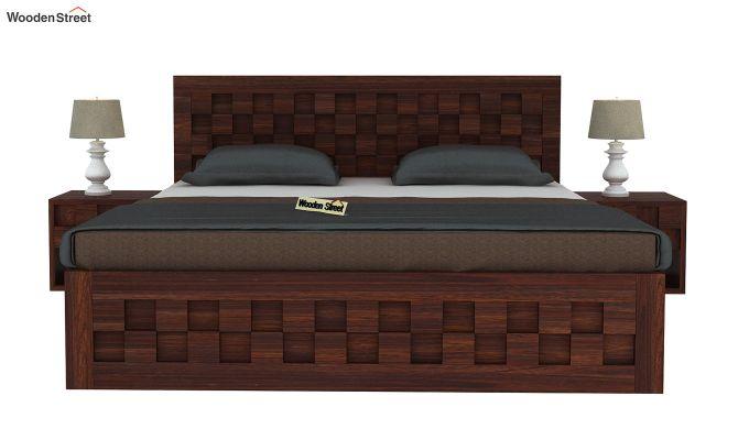 Travis Bed Three Quarter 3/4 With Storage (King Size, Walnut Finish)-3