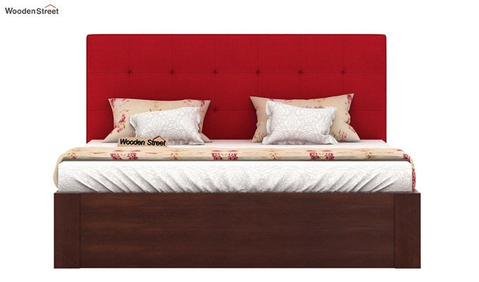 Wagner Upholstered Bed With Side Storage (Queen Size, Dusky Rose)-3