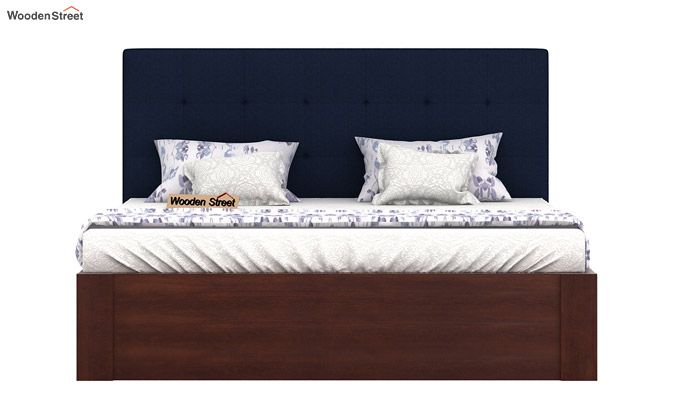 Wagner Upholstered Bed With Side Storage (Queen Size, Indigo Ink)-3