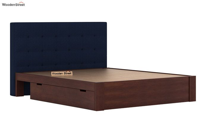 Wagner Upholstered Bed With Side Storage (Queen Size, Indigo Ink)-7
