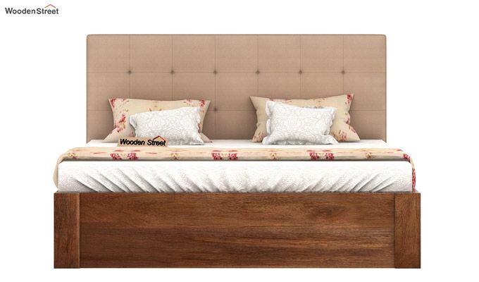 Wagner Upholstered Bed With Side Storage (Queen Size, Irish Cream)-3
