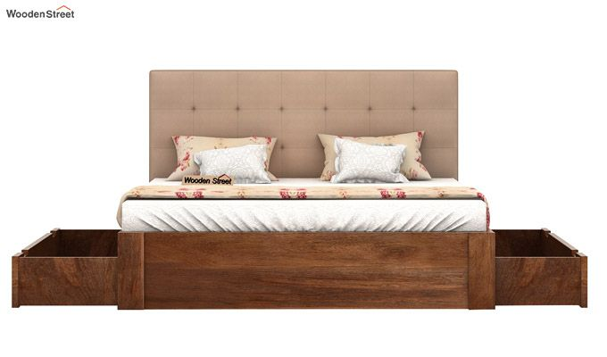 Wagner Upholstered Bed With Side Storage (Queen Size, Irish Cream)-5