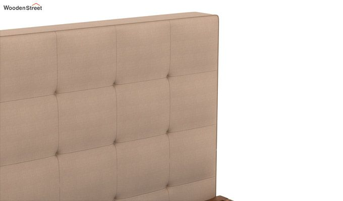 Wagner Upholstered Bed With Side Storage (Queen Size, Irish Cream)-6